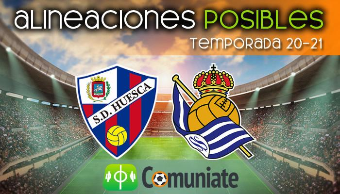 Alineaciones posibles y previa de la Jornada entre Huesca y Real Sociedad. Jornada 34.
