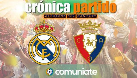 Crónica del partido disputado entre Real Madrid y Osasuna. Jornada 34.