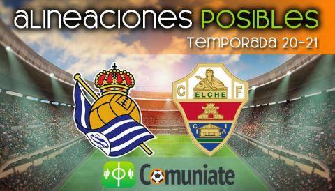 Alineaciones posibles y previa de la Jornada entre Real Sociedad y Elche. Jornada 35.