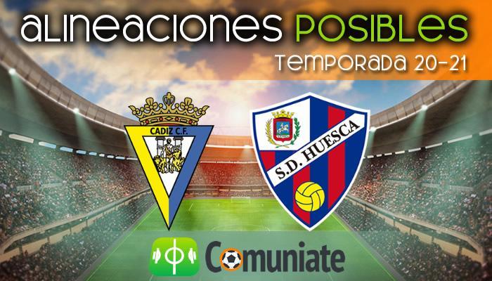 Alineaciones posibles y previa de la Jornada entre Cádiz y Huesca. Jornada 35.