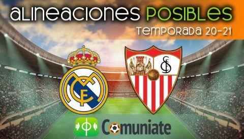 Alineaciones posibles y previa de la Jornada entre Real Madrid y Sevilla. Jornada 35.