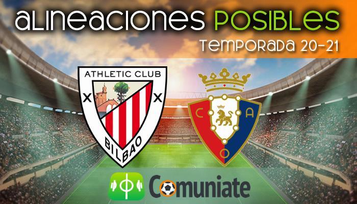 Alineaciones posibles y previa de la Jornada entre Athletic y Osasuna. Jornada 35.