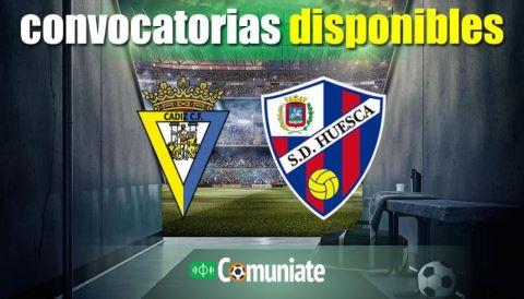 Convocatorias del partido Cádiz y Huesca. Jornada 35.