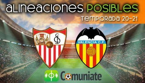 Alineaciones posibles y previa de la Jornada entre Sevilla y Valencia. Jornada 36.