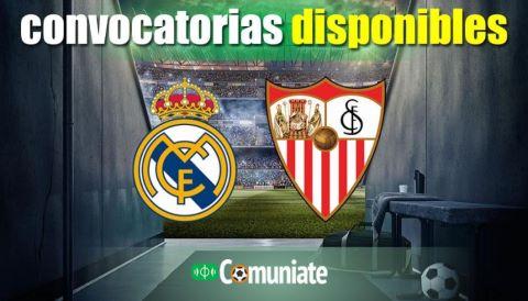 Convocatorias del partido Real Madrid y Sevilla. Jornada 35.