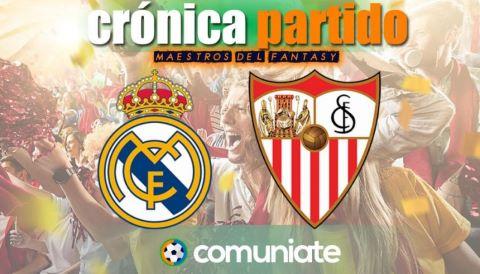 Crónica del partido disputado entre el Real Madrid y el Sevilla. Jornada 35.