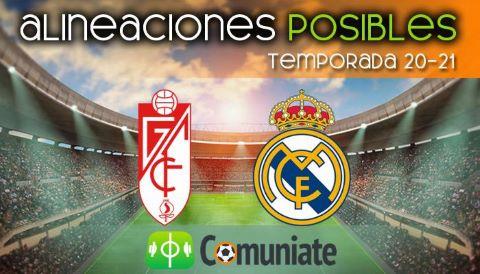 Alineaciones posibles y previa de la Jornada entre Granada y Real Madrid. Jornada 36.