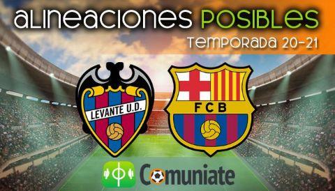 Alineaciones posibles y previa de la Jornada entre Levante y Barcelona. Jornada 36.
