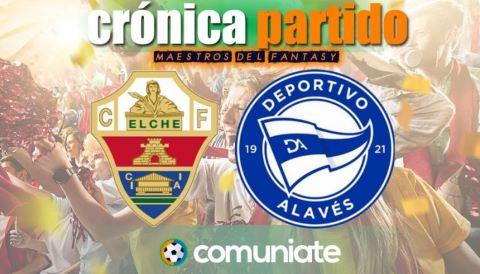 Crónica del partido disputado entre Elche y Alavés. Jornada 36.