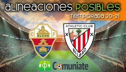 Alineaciones posibles y previa de la Jornada entre Elche y Athletic. Jornada 38.