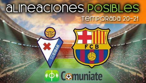 Alineaciones posibles y previa de la Jornada entre Eibar y Barcelona. Jornada 38.