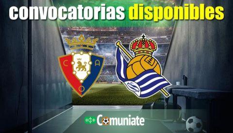 Convocatorias del partido Osasuna y Real Sociedad. Jornada 38.