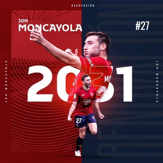 Moncayola renueva por ¡¡¡10 AÑOS!!!
