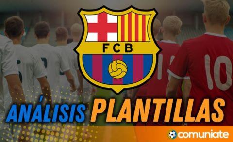 Análisis de la plantilla y recomendables del Fútbol Club Barcelona temporada 21/22.