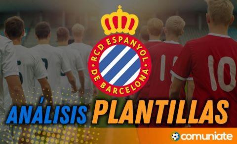 Análisis de la plantilla y recomendables del R.C.D. Espanyol temporada 21/22.