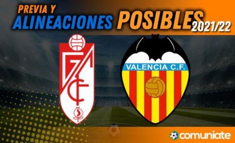 Alineaciones posibles y previa de la Jornada entre Granada y Valencia. Jornada 2.