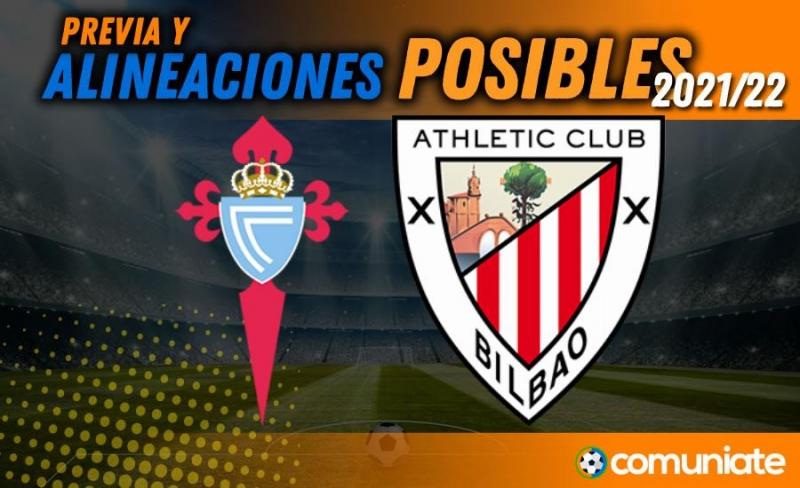 Alineaciones posibles y previa de la Jornada entre Celta y Athletic. Jornada 3.