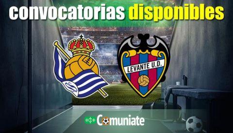 Convocatorias del partido Real Sociedad y Levante. Jornada 3.