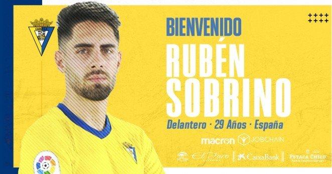 Rubén Sobrino regresa en propiedad al Cádiz