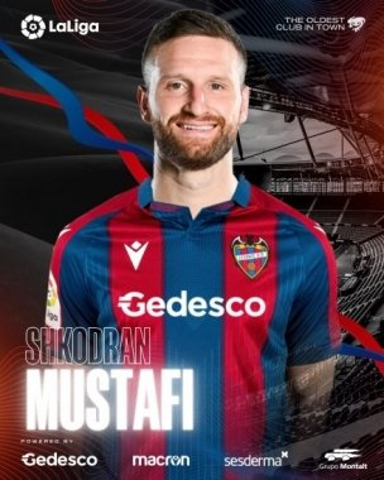 Shkodran Mustafi, nuevo jugador del Levante UD