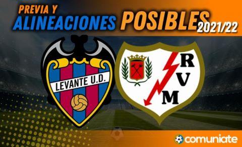 Alineaciones posibles y previa de la Jornada entre Levante y Rayo Vallecano. Jornada 4.