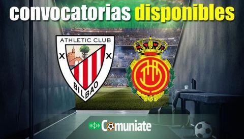 Convocatorias del partido Athletic y Mallorca. Jornada 4.