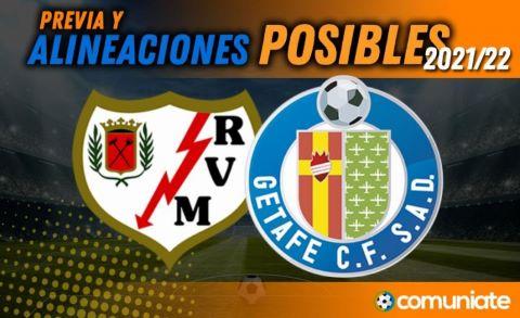 Alineaciones posibles y previa de la Jornada entre Rayo Vallecano y Getafe. Jornada 5.