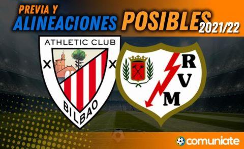 Alineaciones posibles y previa de la Jornada entre Athletic y Rayo Vallecano. Jornada 6.