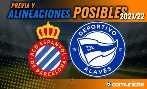 Alineaciones posibles y previa de la Jornada entre Espanyol y Alavés. Jornada 6.