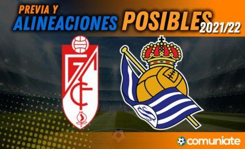 Alineaciones posibles y previa de la Jornada entre Granada y Real Sociedad. Jornada 6.