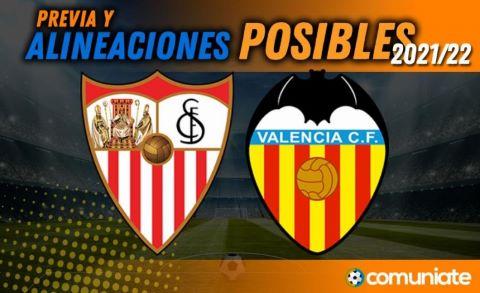 Alineaciones posibles y previa de la Jornada entre Sevilla y Valencia. Jornada 6.