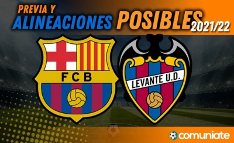 Alineaciones posibles y previa de la Jornada entre Barcelona y Levante. Jornada 7.