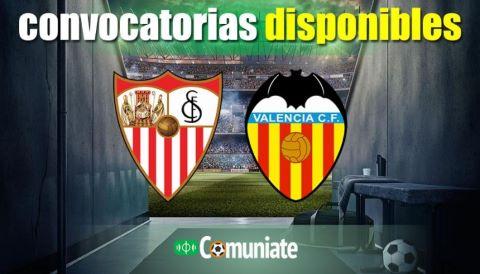 Convocatorias del partido Sevilla y Valencia. Jornada 6.