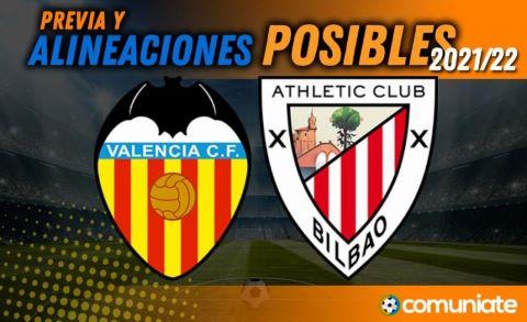 Alineaciones posibles y previa de la Jornada entre Valencia y Athletic. Jornada 7.