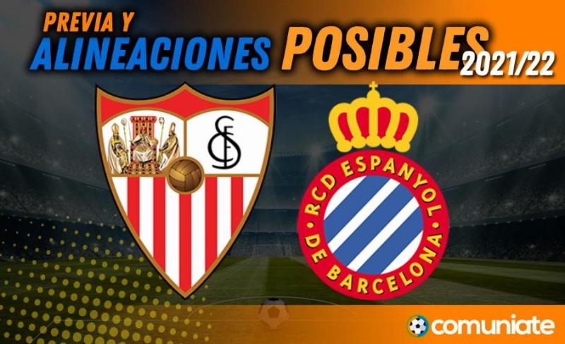 Alineaciones posibles y previa de la Jornada entre Sevilla y Espanyol. Jornada 7.