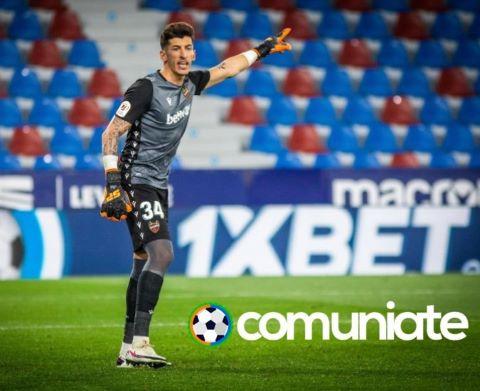 Dani Cárdenas lesionado. Se despeja la duda de la portería en el Levante UD.