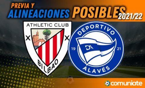 Alineaciones posibles y previa de la Jornada entre Athletic y Alavés. Jornada 8.