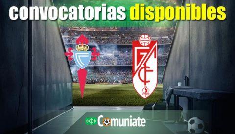 Convocatorias del partido Celta y Granada. Jornada 7.