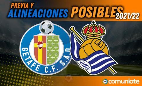 Alineaciones posibles y previa de la Jornada entre Getafe y Real Sociedad. Jornada 8.