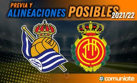 Alineaciones posibles y previa de la Jornada entre Real Sociedad y Mallorca. Jornada 9.