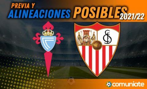 Alineaciones posibles y previa de la Jornada entre Celta y Sevilla. Jornada 9.
