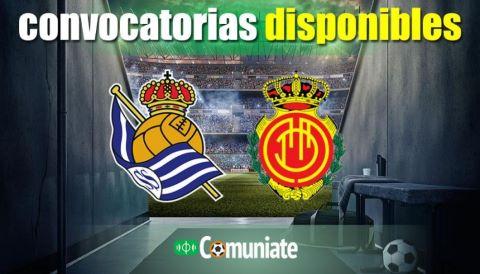 Convocatorias del partido Real Sociedad y Mallorca. Jornada 9.