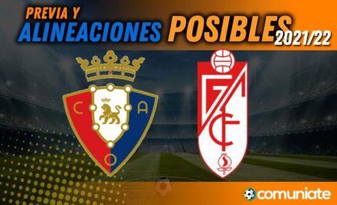 Alineaciones posibles y previa de la Jornada entre Osasuna y Granada. Jornada 10.