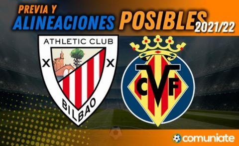 Alineaciones posibles y previa de la Jornada entre Athletic y Villarreal. Jornada 10.