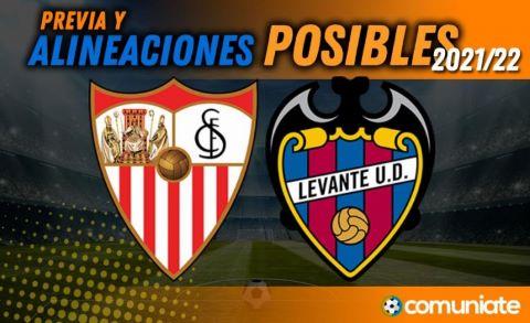 Alineaciones posibles y previa de la Jornada entre Sevilla y Levante. Jornada 10.