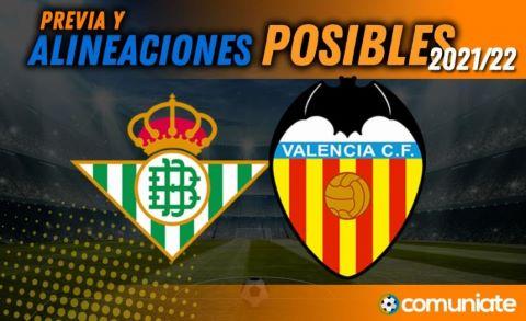 Alineaciones posibles y previa de la Jornada entre Betis y Valencia. Jornada 11.