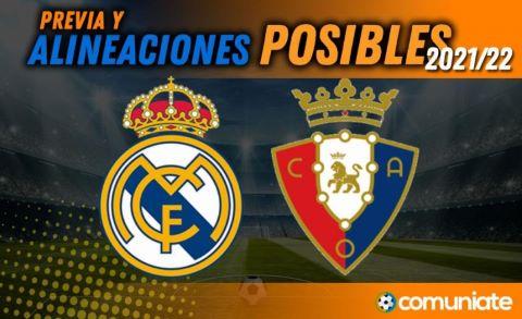 Alineaciones posibles y previa de la Jornada entre Real Madrid y Osasuna. Jornada 11.